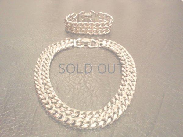 画像1: vintage costume jewelry[ヴィンテージ コスチュームジュエリー BERGERE(ベルジェーレ)] Neckless & bracelet set (1)