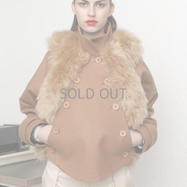 HARTMANN NORDENHOLZ - 2014 A/W loden wool with sheep fur jacket [CAMEL]