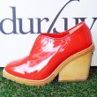 画像2: durbuy - SLIT BOOTIE PATENT [RED / SIZE EU37 1 / 2] (2)