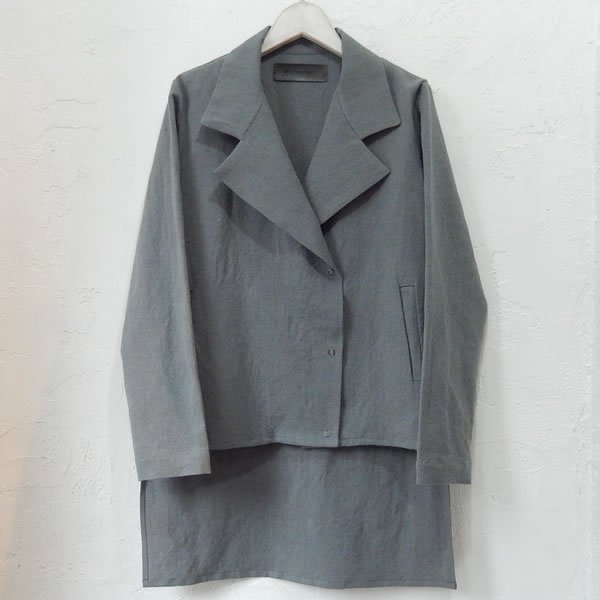 AISTE NESTEROVAITE - FORMAL COLLAR RIDERS JACKET [GREY]