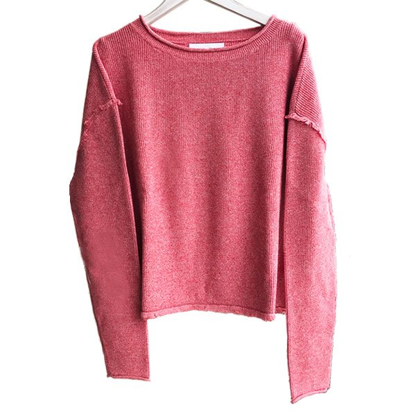 JOHN+JENN - SAWYER / CANDY CANE(100% COTTON KNIT SWEATER)